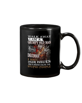 December Grumpy Old Man Has Anger Issues A Serious Dislike Birthday Gift Mug