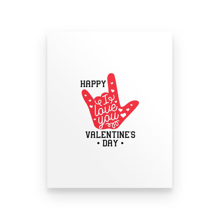Happy Valentine's Day I Love You Couple Love Valentine Gift Poster