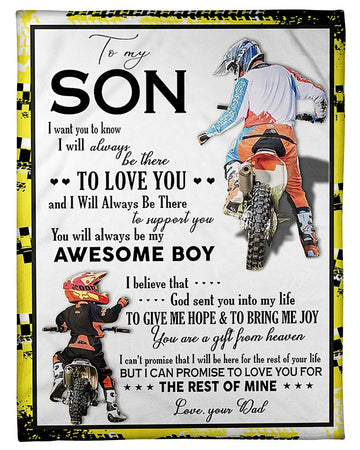 That's Message From Dad With Love To Son Fleece Blanket