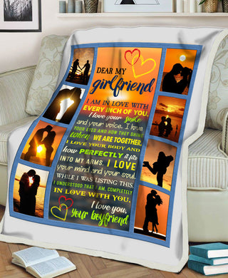 I Am In Love With Every Inch Of You Valentine Gifts For Her Boyfriend Gifts For Girlfriend Fleece Blanket