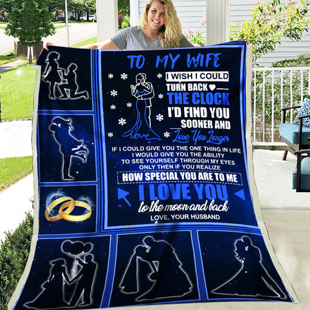 To My Wife Wish Find You Sooner Husband Gift To Wife Valentine Couple Gift Fleece Blanket
