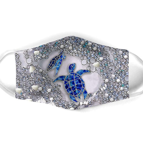 Turtle Couple And Shells Washable Cloth Mask