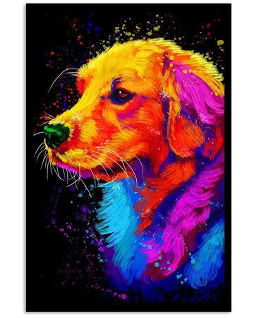 Golden Retriever Water Color Gifts For Dog Lovers Vertical Poster
