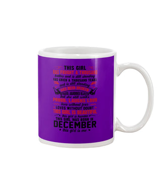 This Girl Is Beautiful Who Was Born In December Birthday Gift For Friends Mug