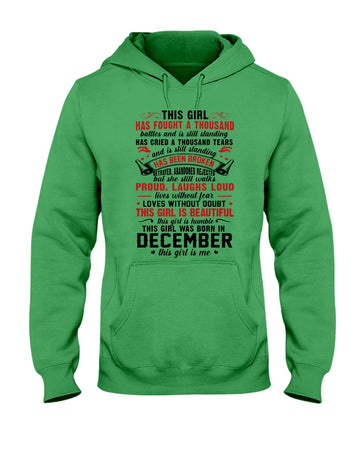 This Girl Is Beautiful Who Was Born In December Birthday Gift For Friends Hoodie