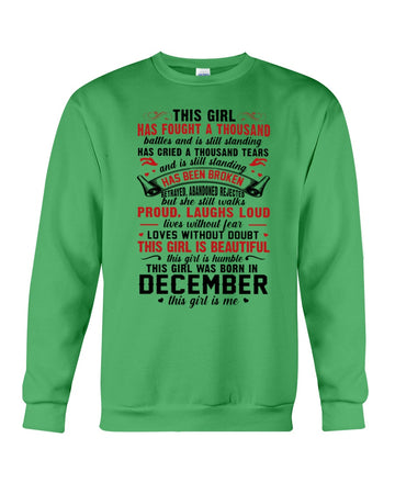 This Girl Is Beautiful Who Was Born In December Birthday Gift For Friends Sweatshirt