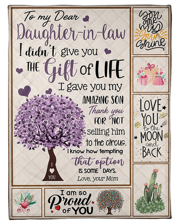 I Gave You My Amazing Son Quote Gift For Daughter-In-Law Fleece Blanket