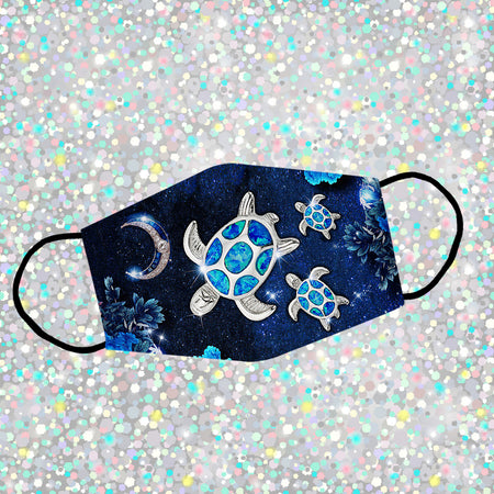 Platinum Green Sea Turtle Reusable Face Mask/Washable Cloth Mask