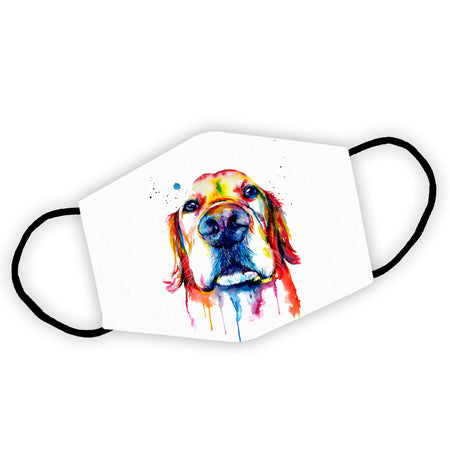 Colorful Golden Retriever Dog Reusable Face Mask/Washable Cloth Mask