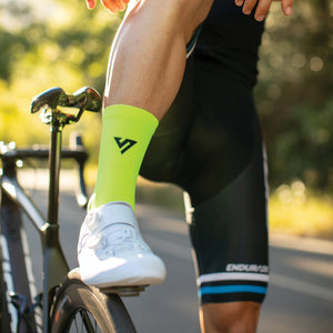 Lumo Yellow Ride Socks