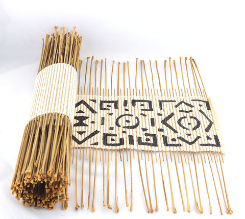 Twig And Mud Cloth Table Runner (Mali)