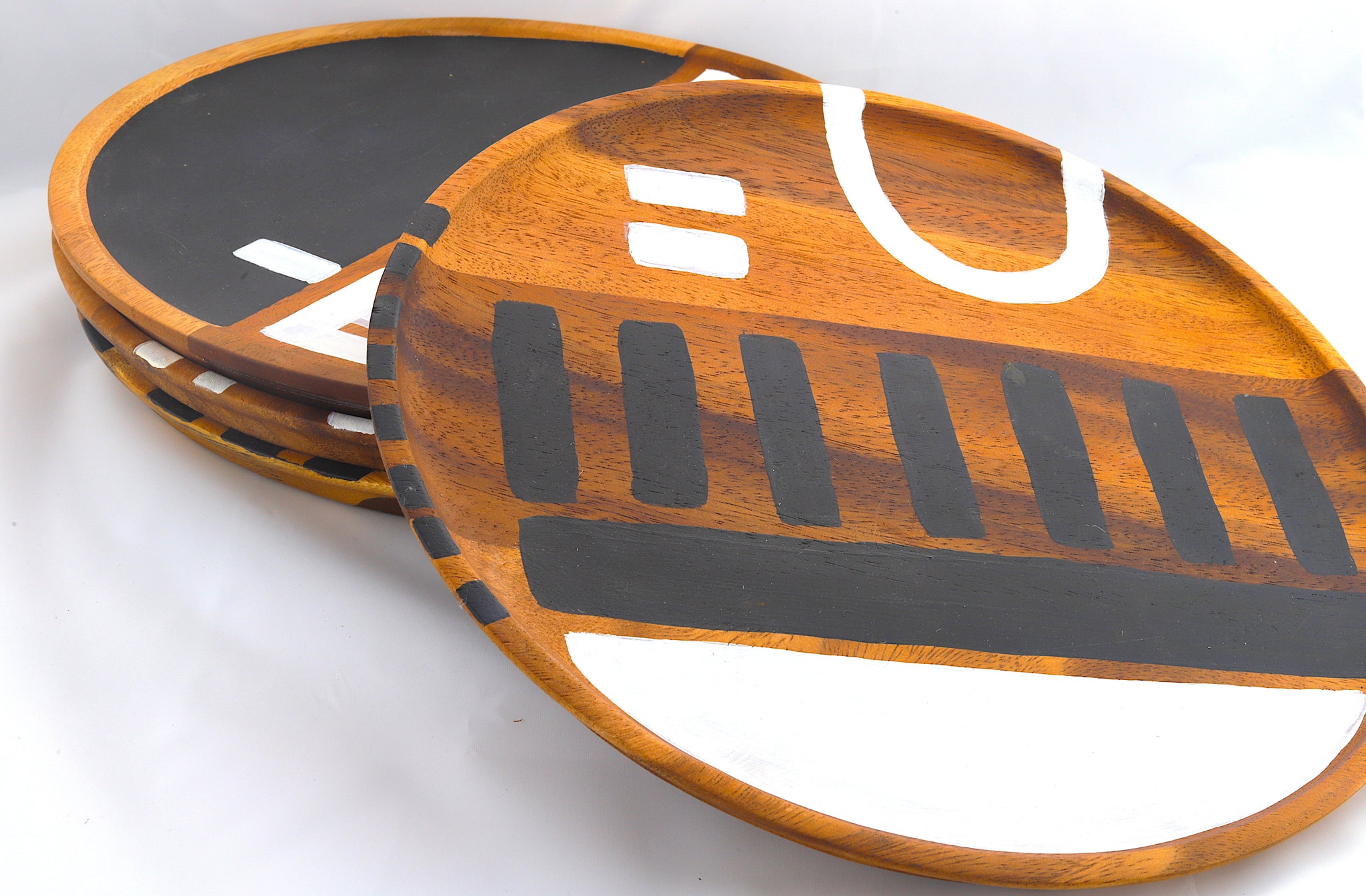 Hand Painted Wooden Plate Charger
