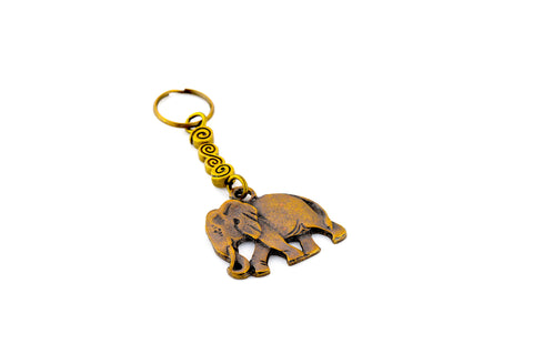 Brass Elephant Keychain (South Africa)