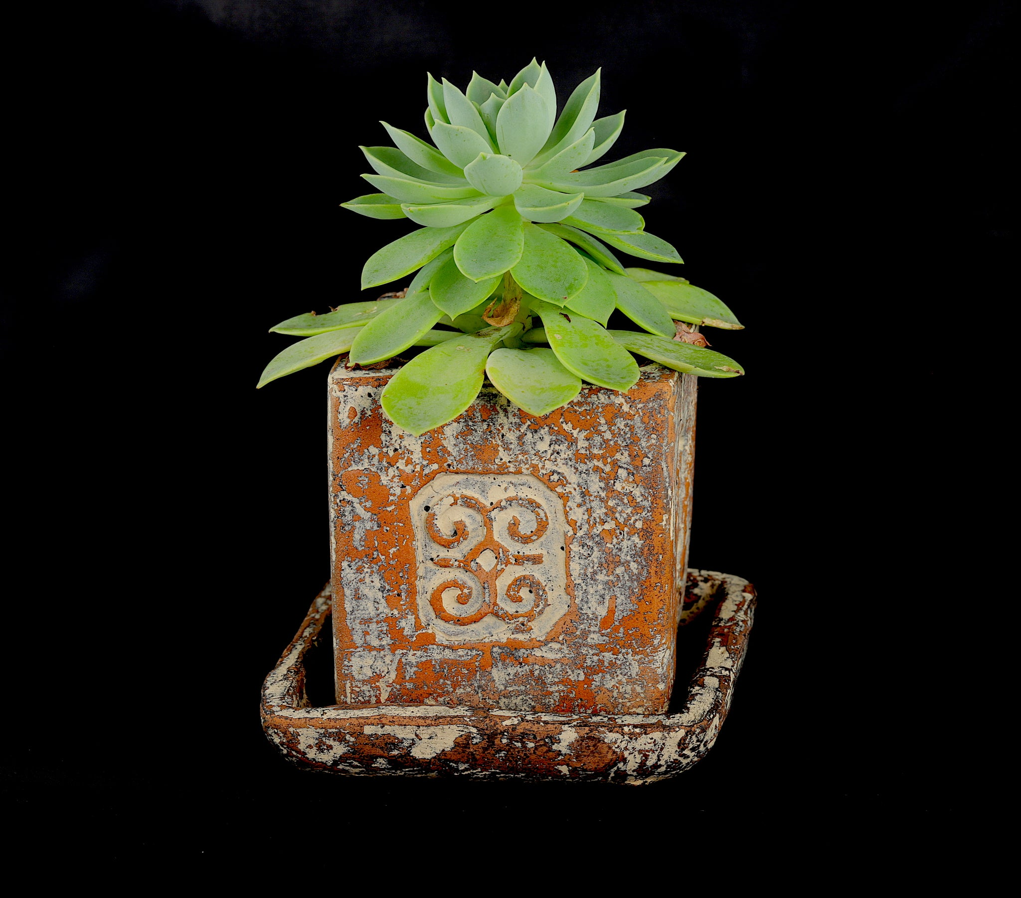Clay Adinkra Flower Pot (Ghana)