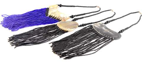 Tusk And Hand-beaded Statement Necklaces (Ghana)