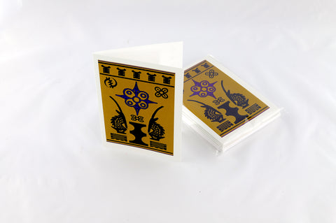 Sankofa And Adinkra Symbol Notecards