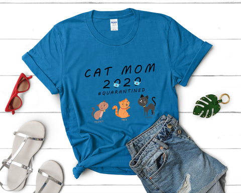 Cat Mom 2020 Unisex Heavy Cotton Tee-0002