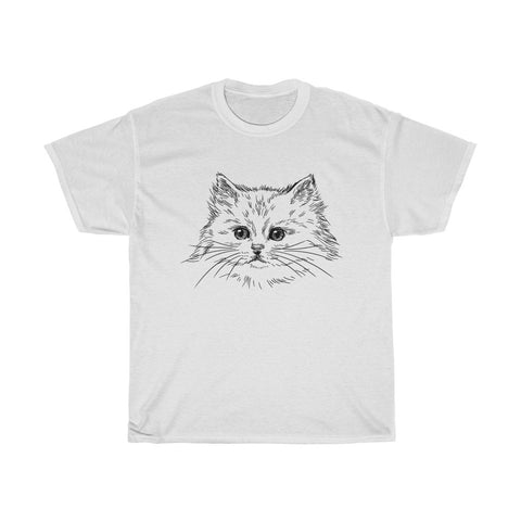 Cat Unisex Heavy Cotton Tee-0053