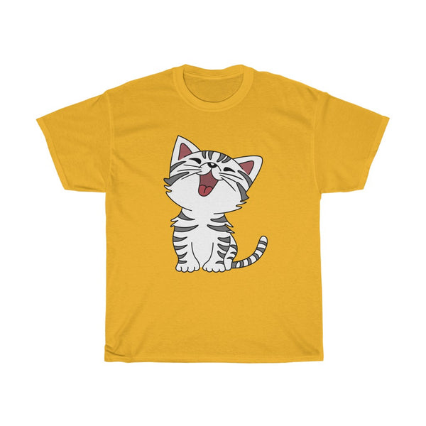 Cat Unisex Heavy Cotton Tee-0050