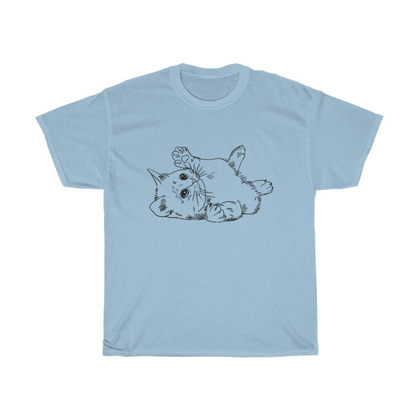 Cat Unisex Heavy Cotton Tee-0054