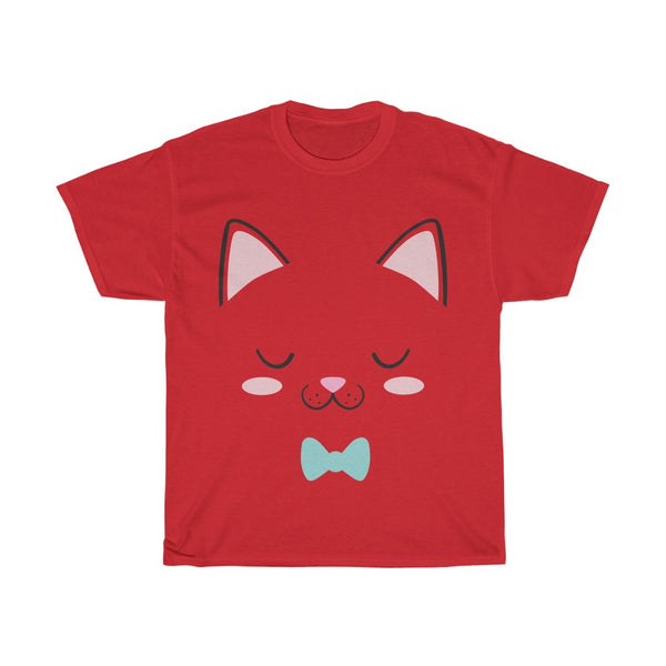 Cat Face Cute Unisex Heavy Cotton Tee/T-shirt