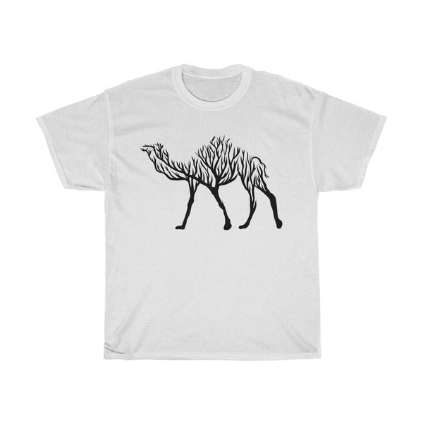 Camel Line Art Unisex Heavy Cotton Tee/T-shirt