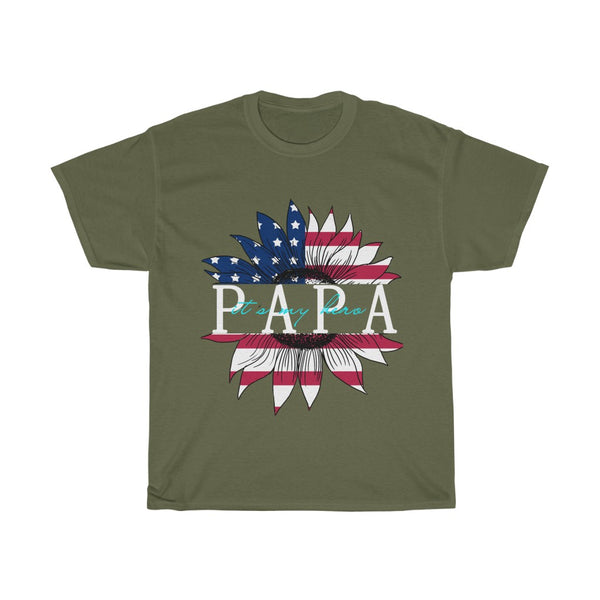 Papa is my hero Unisex Heavy Cotton Tee-0008
