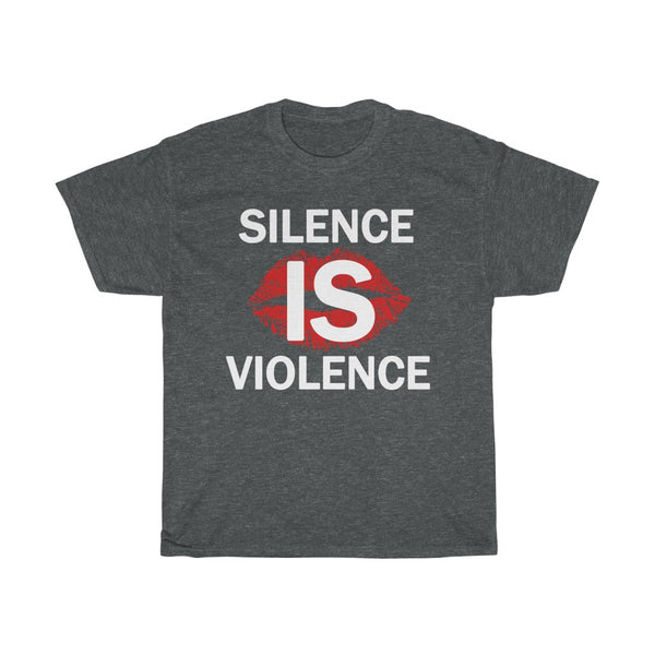Silence Is Violence Unisex Heavy Cotton Tee-0037