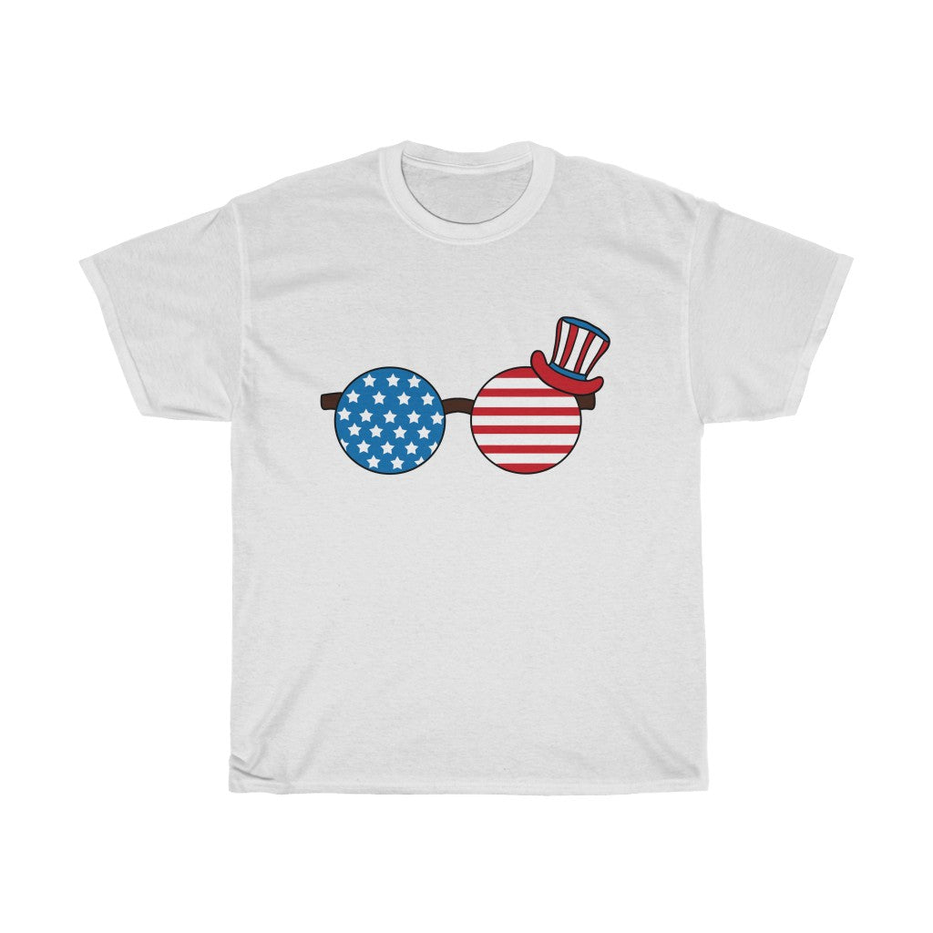 Glass USA Flag Unisex Heavy Cotton Tee-0030