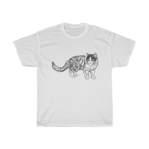Cat Unisex Heavy Cotton Tee-0055