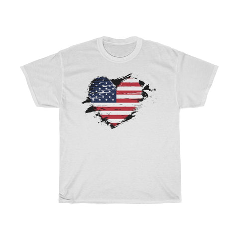 US Flag Unisex Heavy Cotton Tee