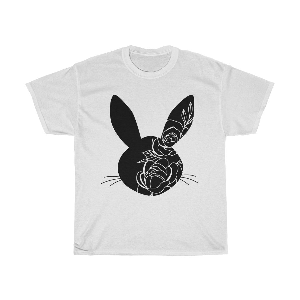 Easter Bunny Head Unisex Heavy Cotton Tee/T-shirt