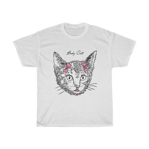 Baby Cat Unisex Heavy Cotton Tee-0047-A