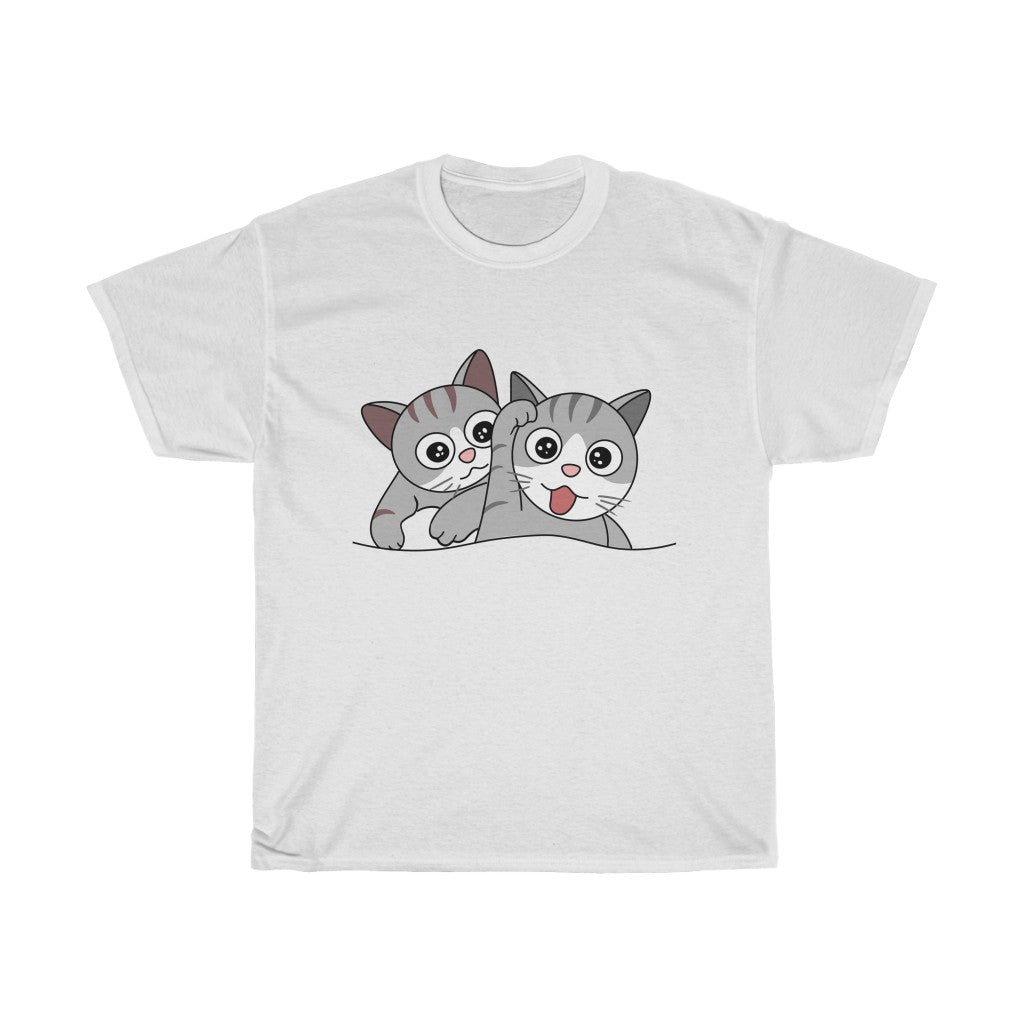 Cat Unisex Heavy Cotton Tee-0052