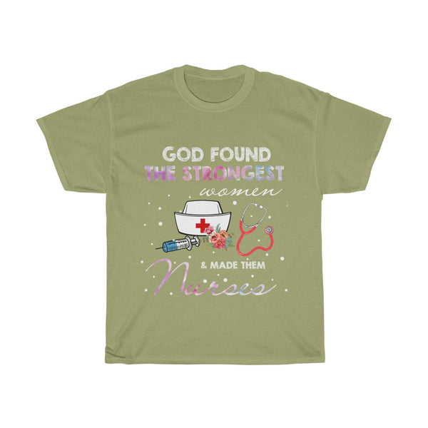 God Found the Strongest Unisex Heavy Cotton Tee-0006