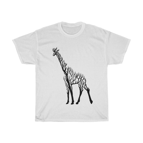 Giraffe Line art Unisex Heavy Cotton Tee/T-shirt