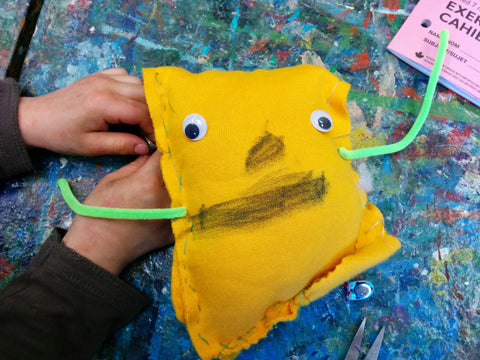 A spooky talking monster made in one of our workshops