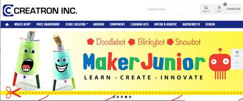 Maker Junior banner image from Creatron Inc