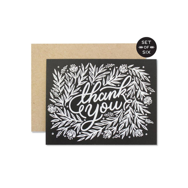 Floral Thank You Card - Boxed Set of 6