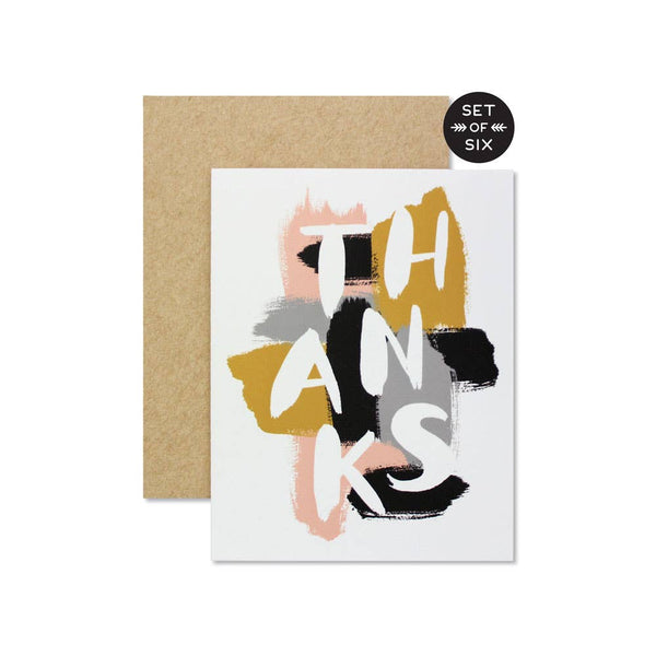 Thanks Card - Boxed Set of 6