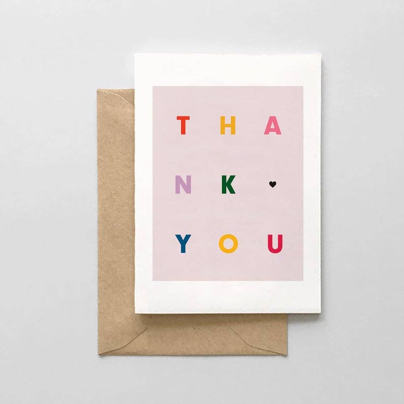 Thank You Multi Color Set of 6 Cards