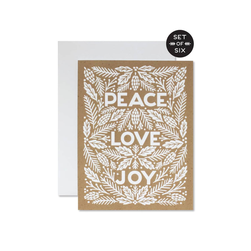 Peace Love Joy - Set of 6
