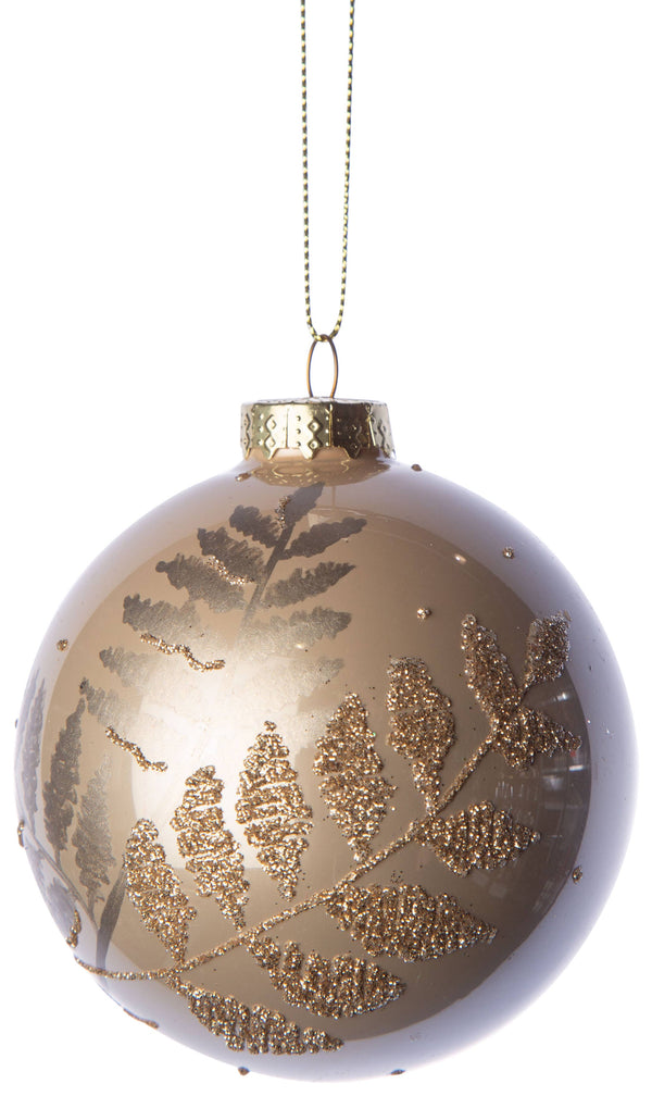 Glitter Fern Ornament