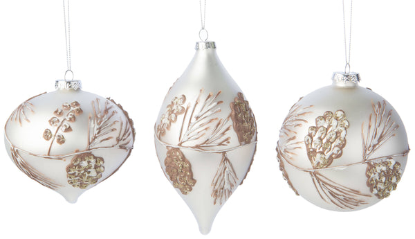 Pine Cone Textured Ornament