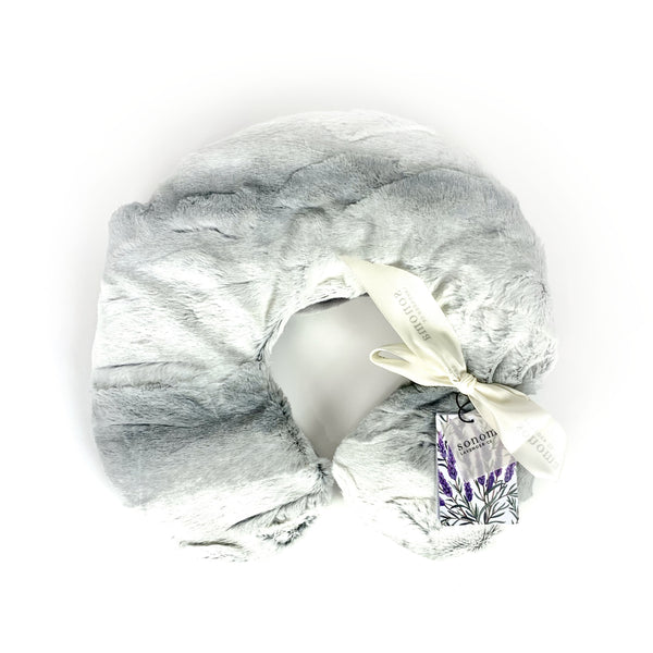 Lavender Neck Pillow Angora Platinum