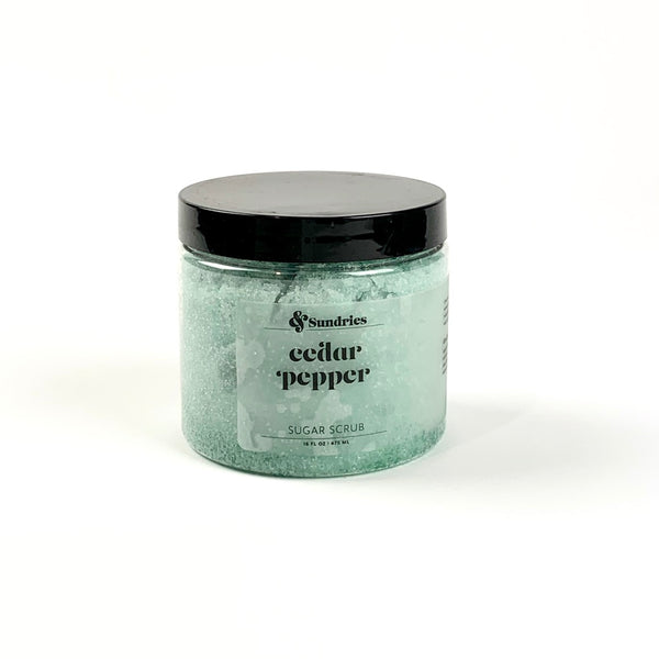 Cedar and Pepper Sugar Scrub