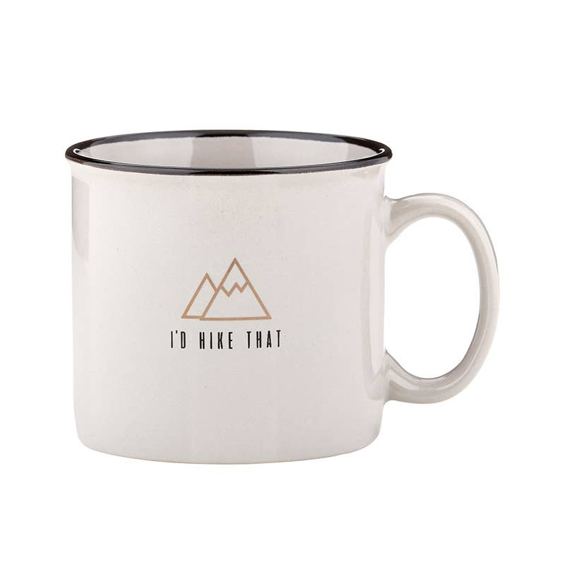I'd Hike That Grey Campfire Mug
