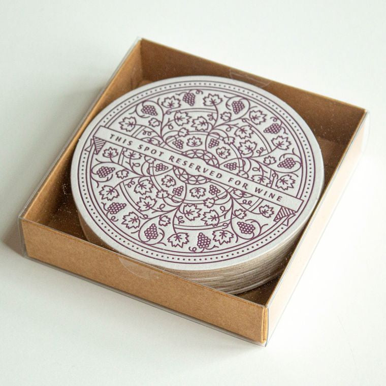 Wine Letterpress Coasters