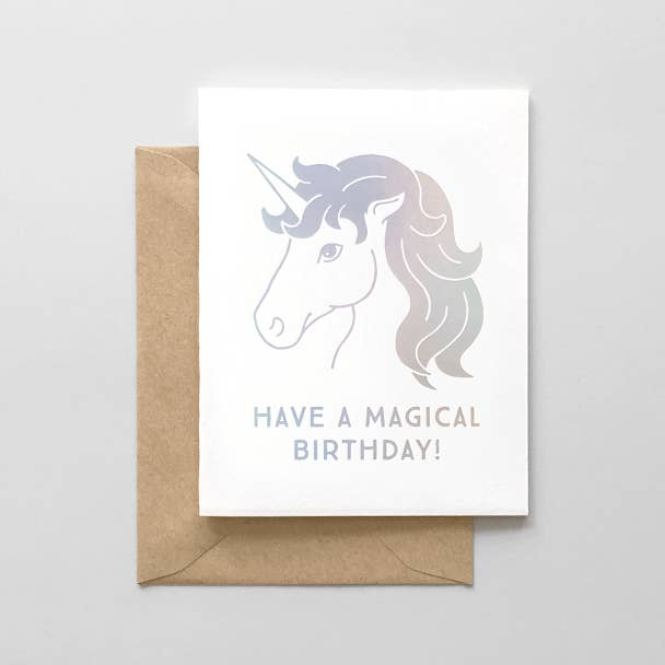 Magical Birthday Unicorn Card