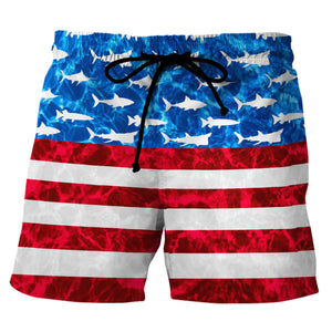 Fishing Americamo - Custom Swim Trunks